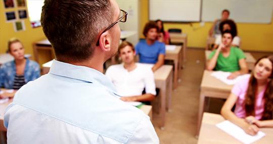 Leraar voor de klas